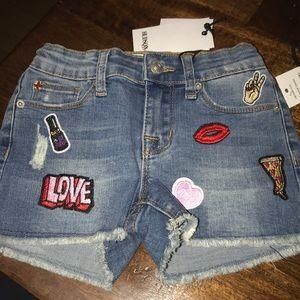 Hudson kids embellished shorts